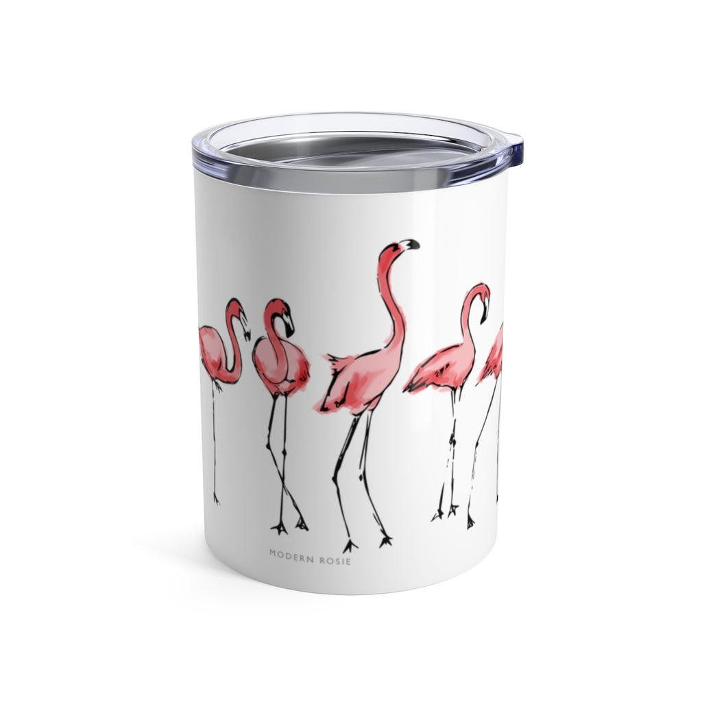 Flamingos - Wine Tumbler