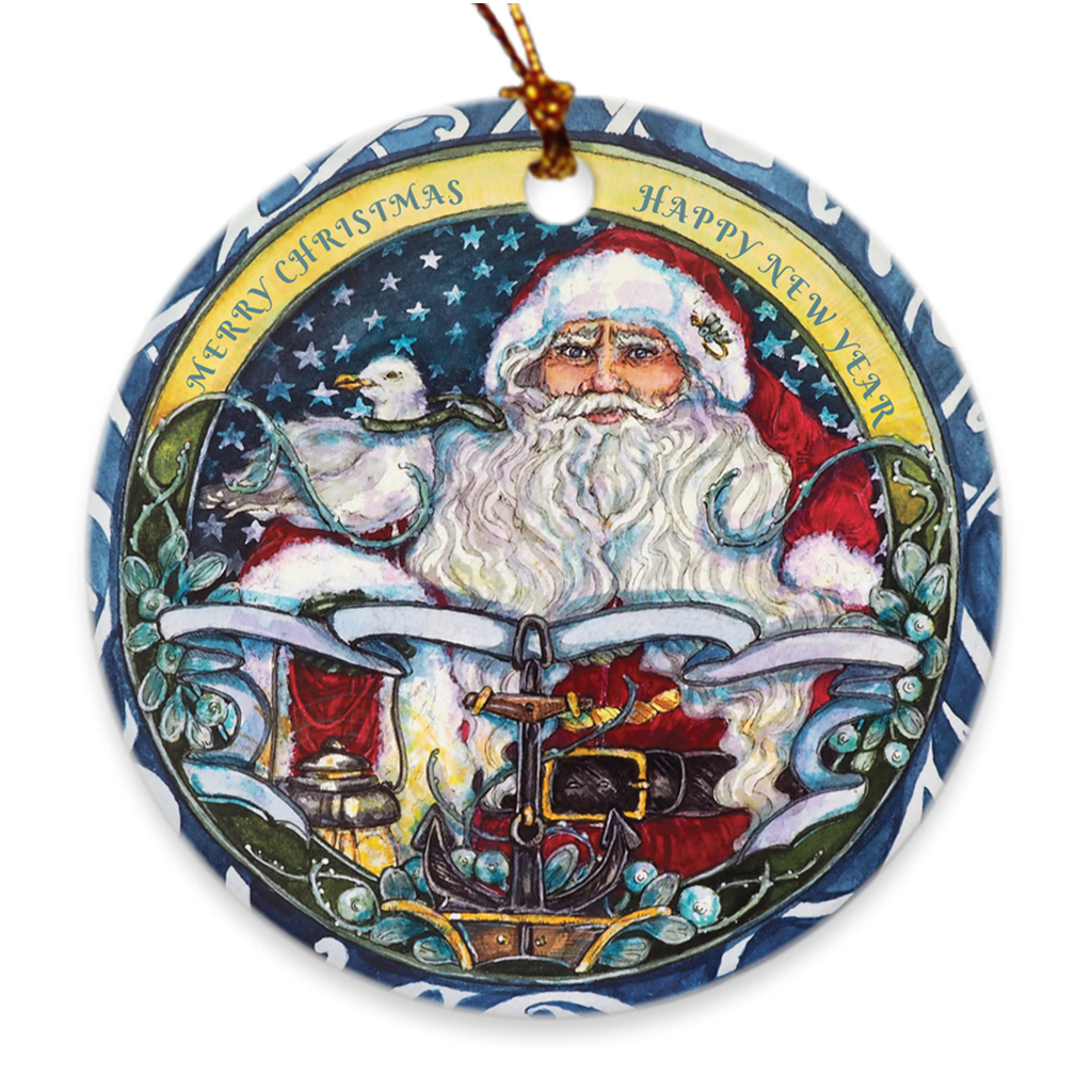 Seaworthy Santa Christmas Ornament