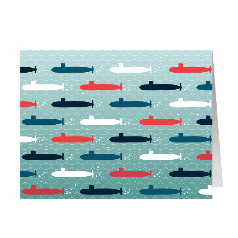 Submarine Parade - 4x5 Folded Card Pack