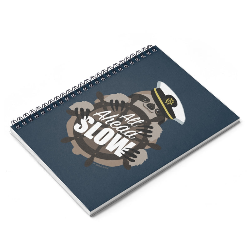 All Ahead Slow Sloth Spiral Notebook