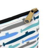 Submarine Blues Pencil Pouch from Modern Rosie