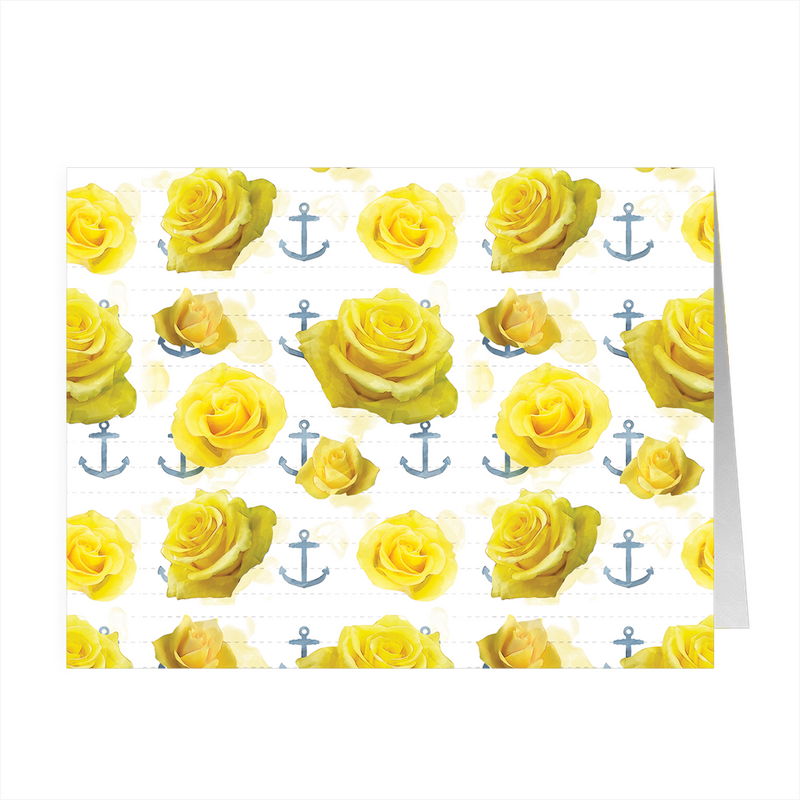 Roses and Anchors - 4x5 Folded Card Pack