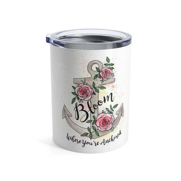 Bloom Where You're Anchored Wine Tumbler from Modern Rosie