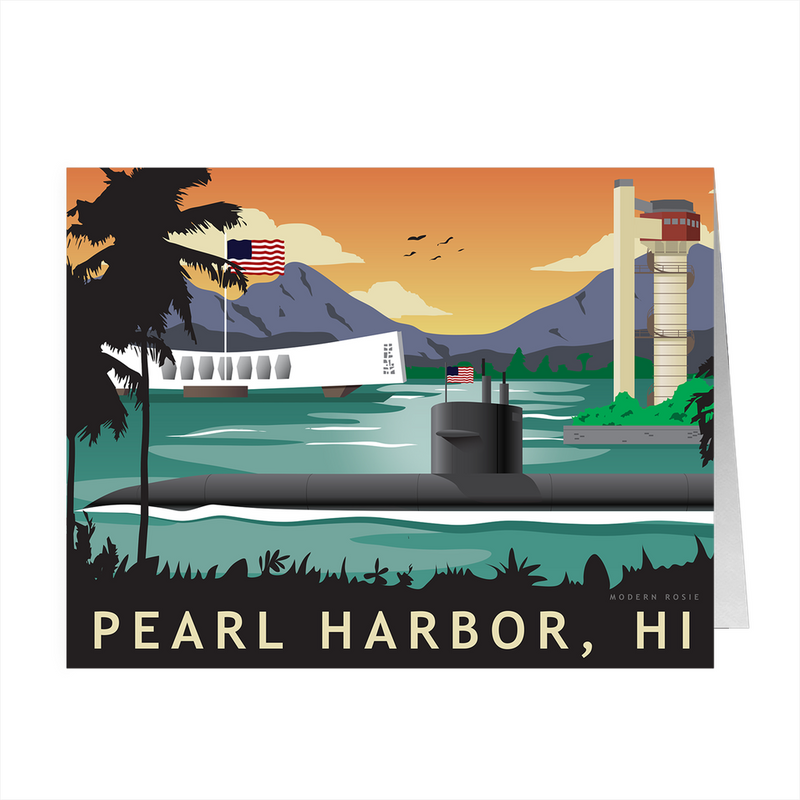 Pearl Harbor Submarine Homeport - 4x5 Folded Card Pack