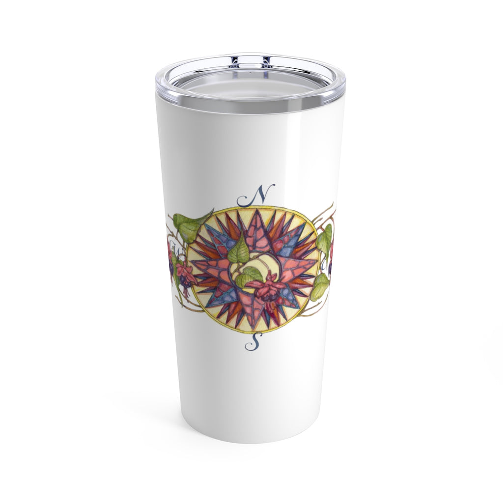 Blooming Compass: Fuchsia of New England - Beverage Tumbler