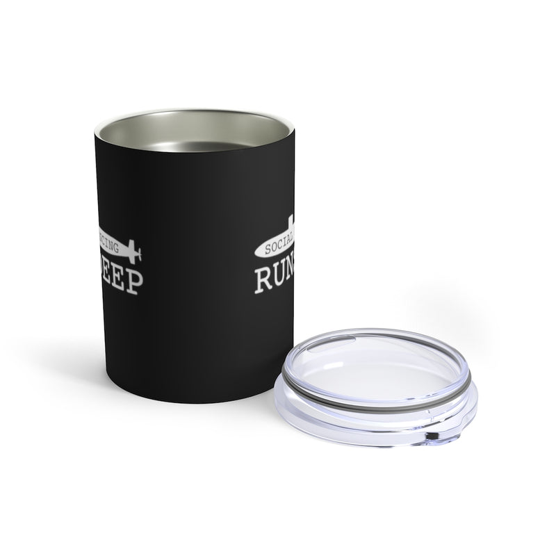 Social Distancing Runs Deep Wine Tumbler