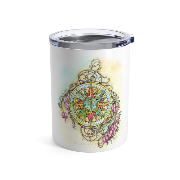 Blooming Compass - Wine Tumbler
