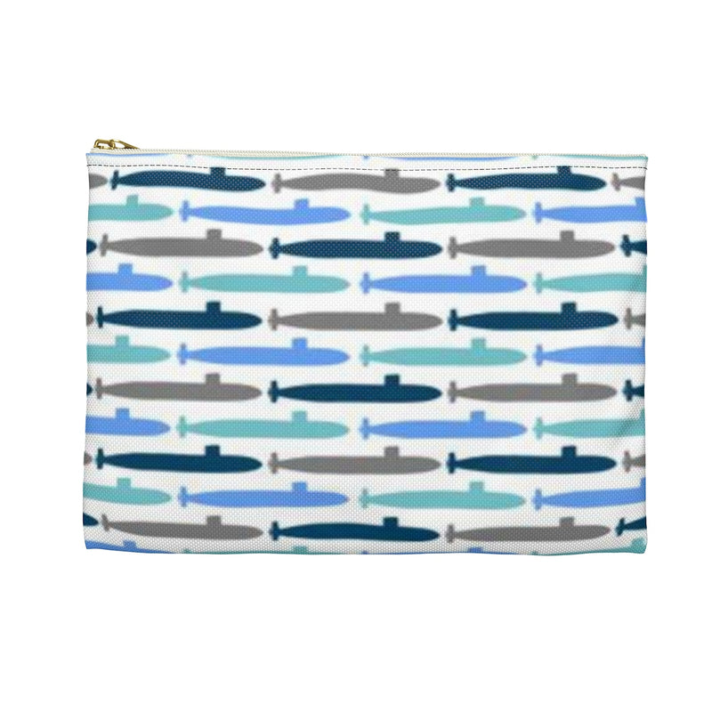Submarine Blues Pencil Pouch