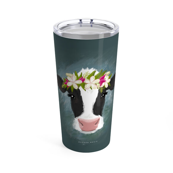 Aloha Cow Beverage Tumbler from Modern Rosie
