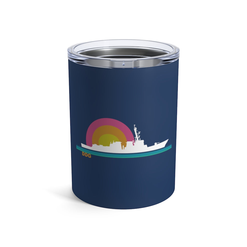 Destroyer Sunset -  Wine Tumbler
