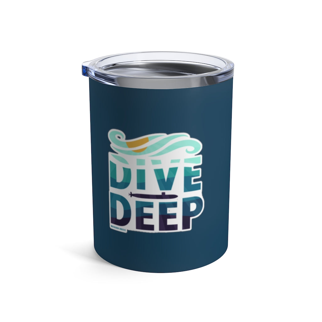 Dive Deep Wine Tumbler (Navy Blue Option)