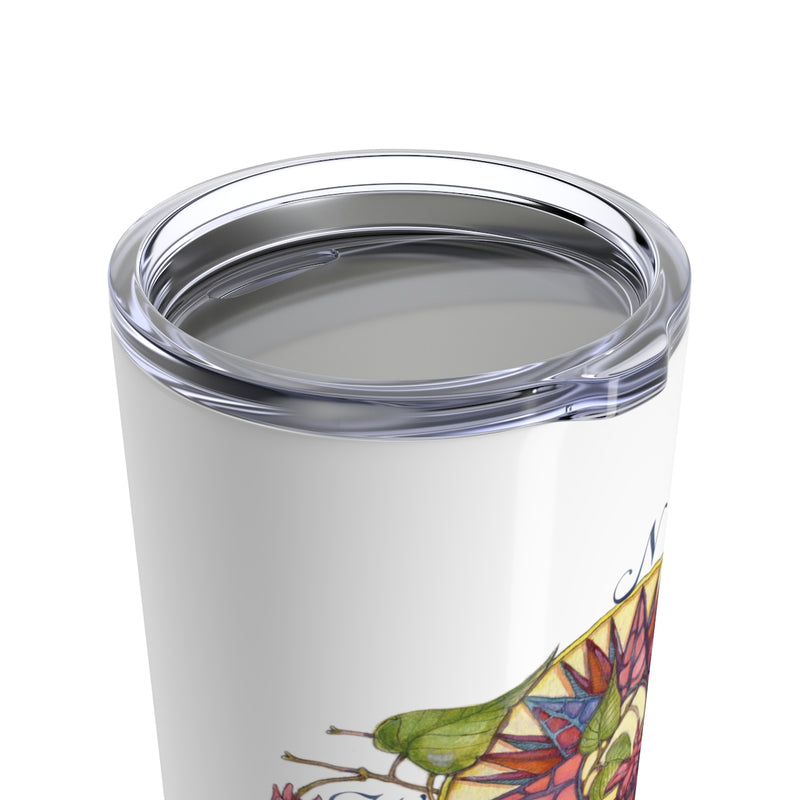 Floral Compass - Fuchsia - Beverage Tumbler