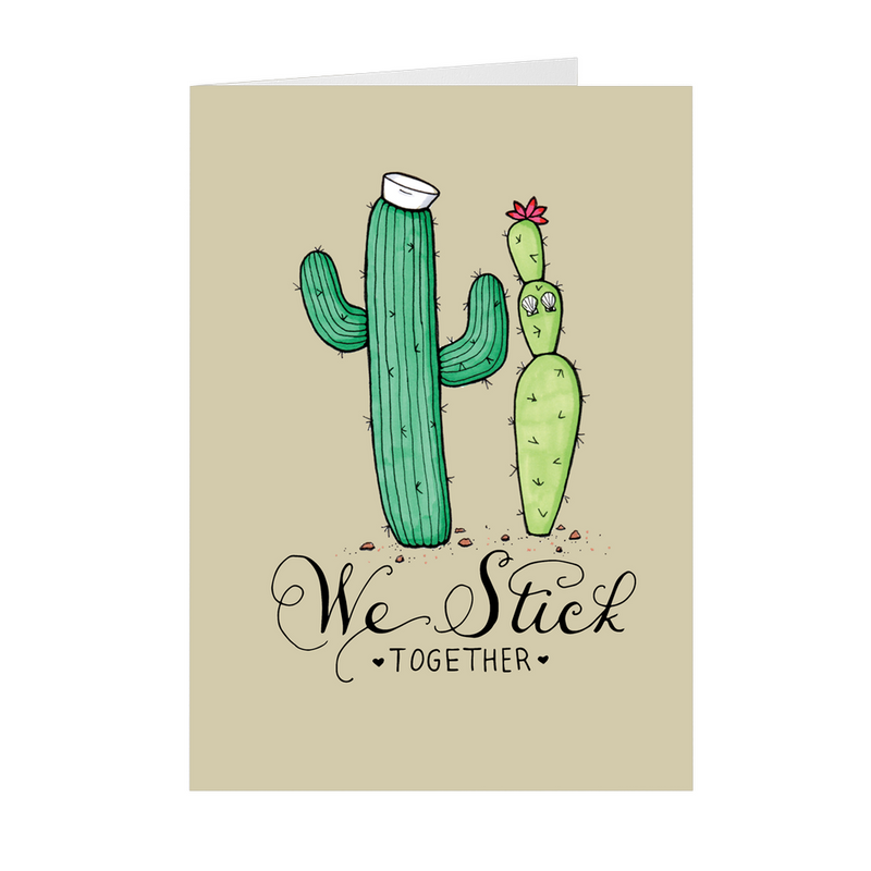 We Stick Together - 5x7 Folded Card