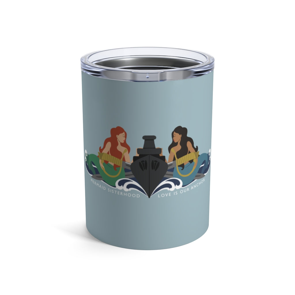 Surface Mermaid Sisterhood Insignia - Wine Tumbler