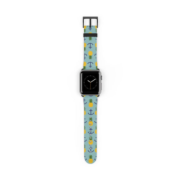 Pineapples and Anchors Watch Band