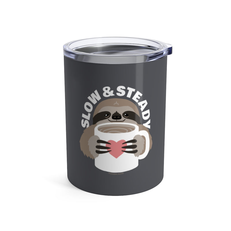 Slow and Steady Sloth - Wine Tumbler