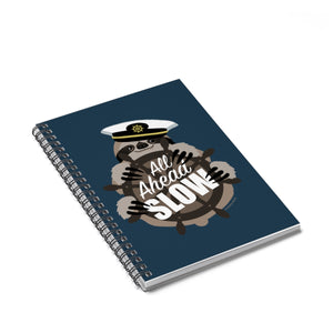 All Ahead Slow Sloth Spiral Notebook from Modern Rosie