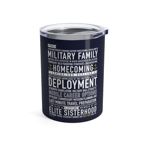 Navy Wife Will Do - Wine Tumbler (navy blue) from Modern Rosie