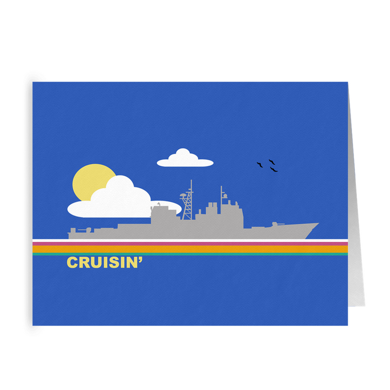 Cruisin' - (Cruiser) Folded Cards