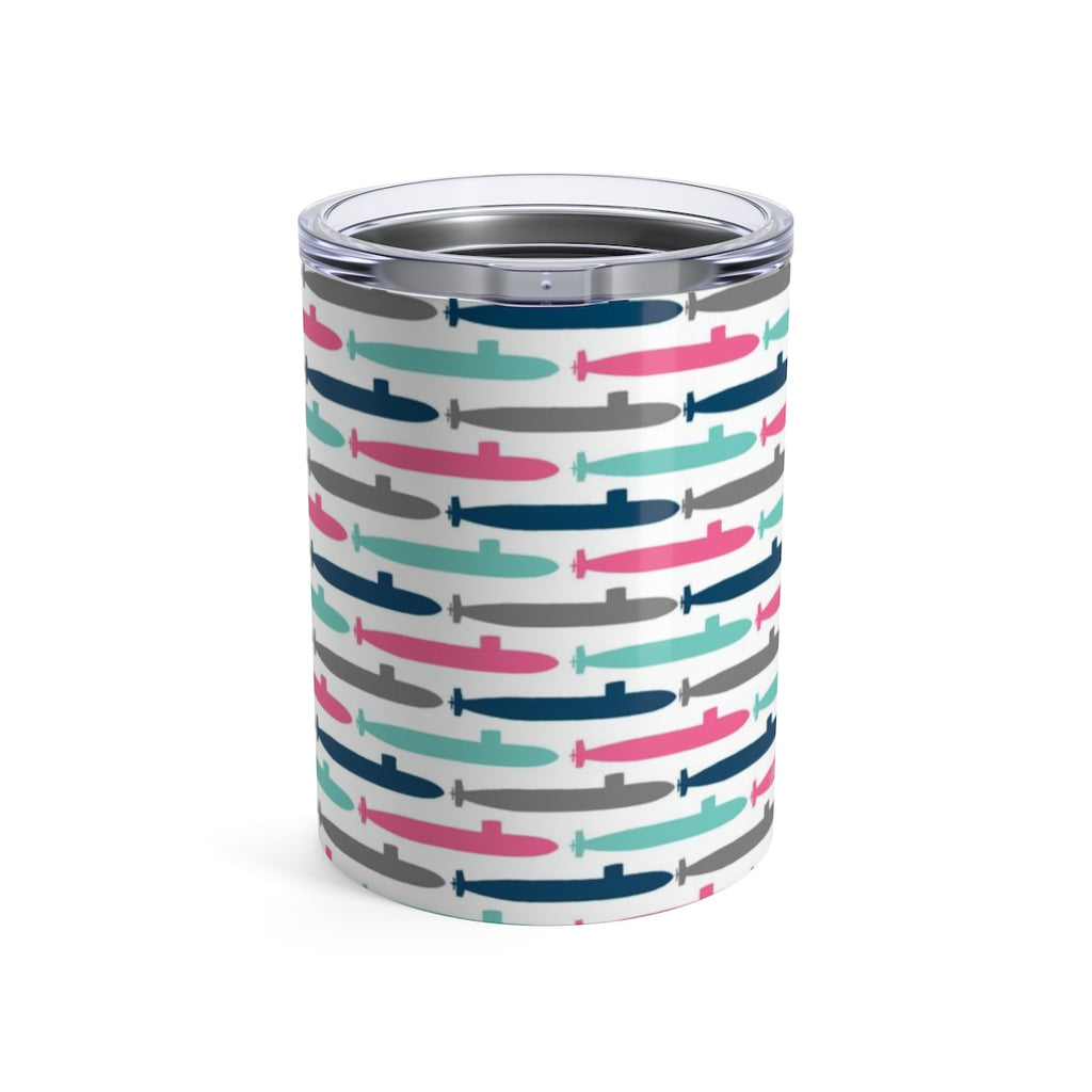 Colorful Submarines Wine Tumbler