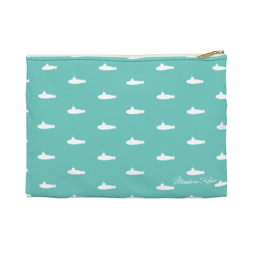 Tiny Subs (Teal)  Pencil Pouch