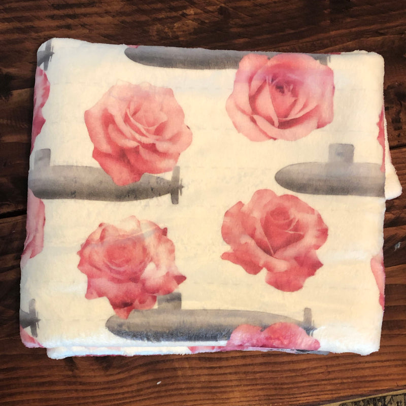Subs and Roses Super Soft Fleece Blanket