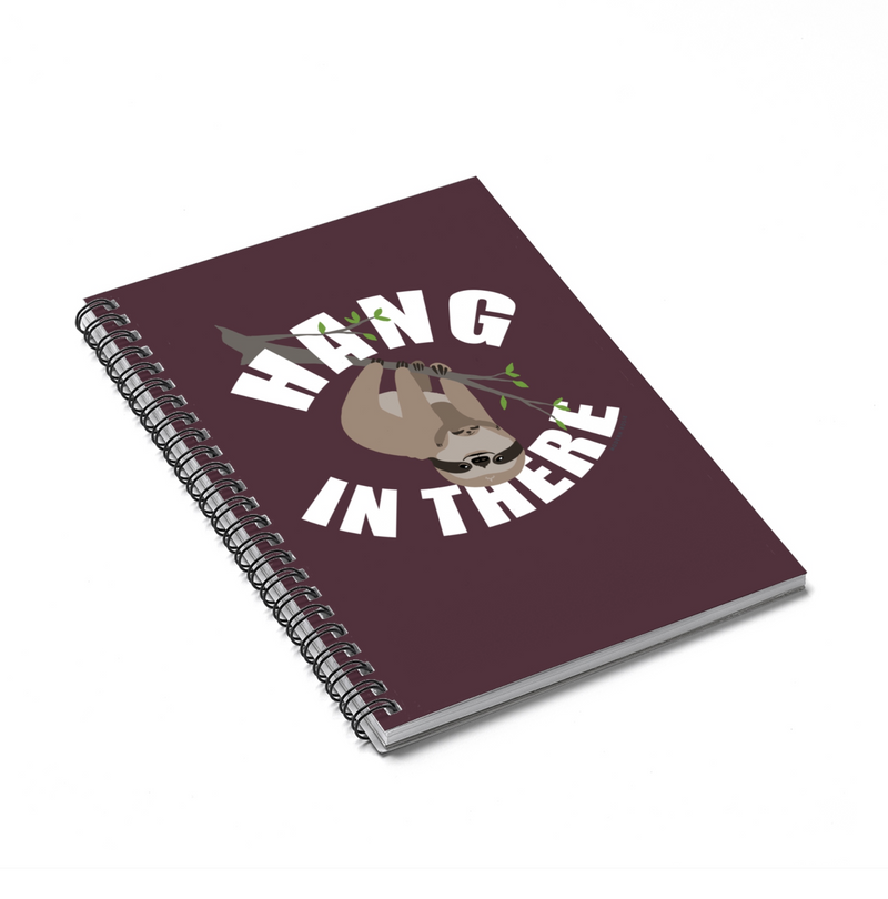 Hang in There Slow Sloth Spiral Notebook