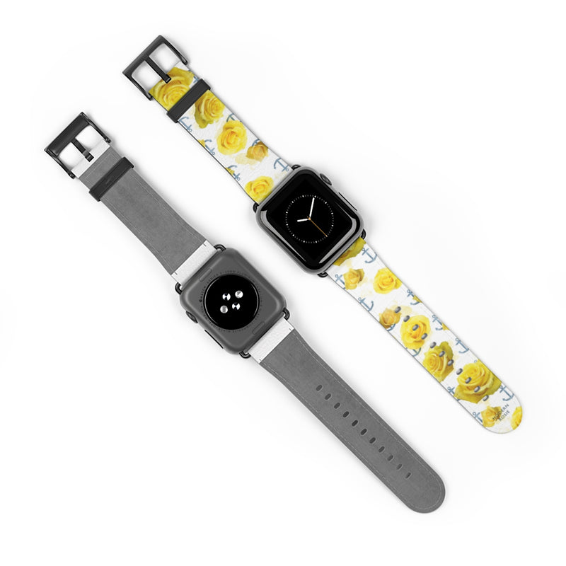 Anchors and Roses Watch Band