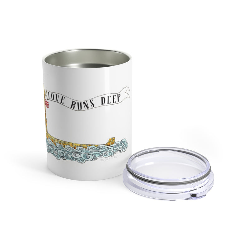 Love Runs Deep - Wine Tumbler