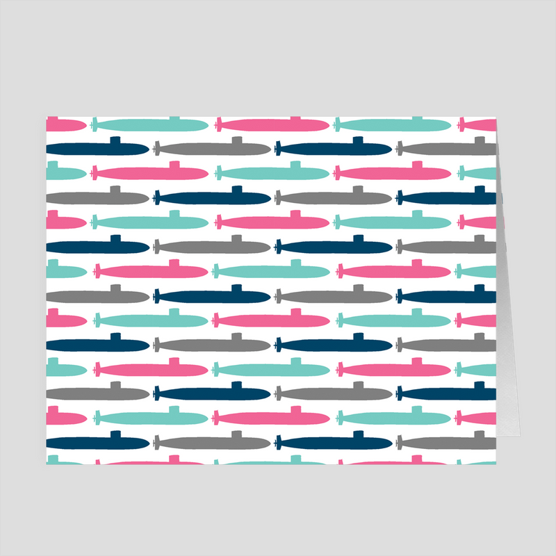Colorful Submarines - 4x5 Folded Card Pack