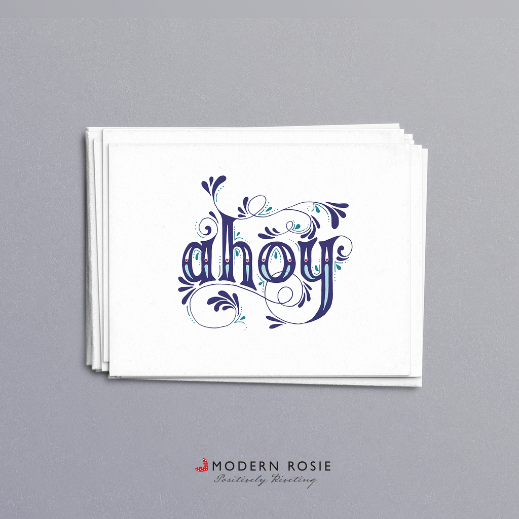 Ahoy - 4x5 Folded Card Pack