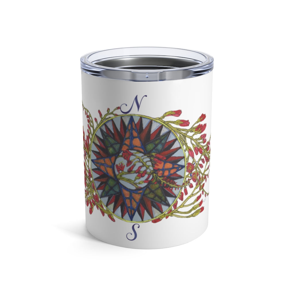 Blooming Compass - Freesia of the Pacific Islands - Wine Tumbler