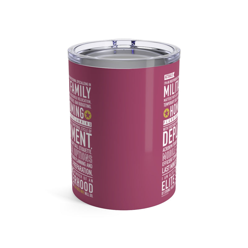 Air Force Wife Will Do - Wine Tumbler (pink)