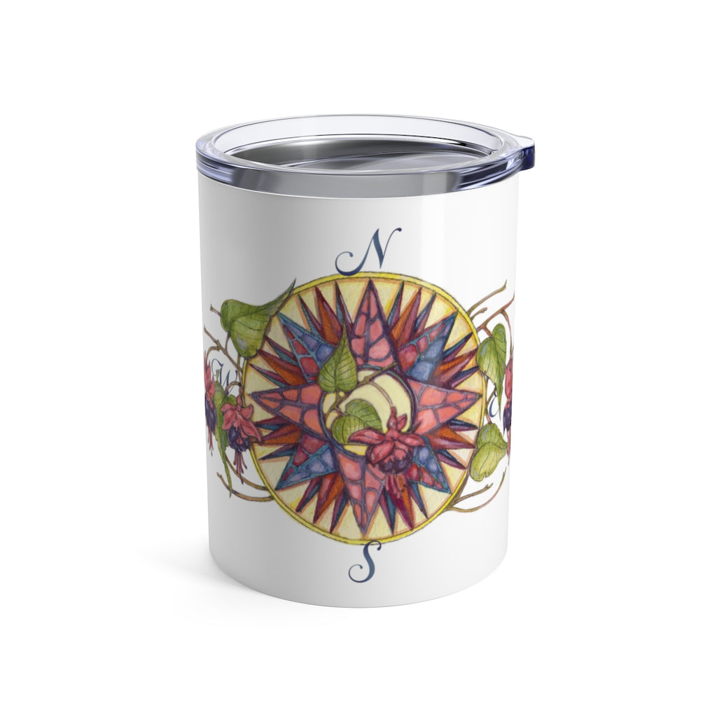 Blooming Compass: Fuchsia of New England - Fuchsia - Wine Tumbler