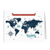 World Map: Home is Where We Drop Our Anchor- Americana - Folded Cards