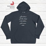 Blowing Kisses to Submarines - Cozy fleece hoodie from Modern Rosie