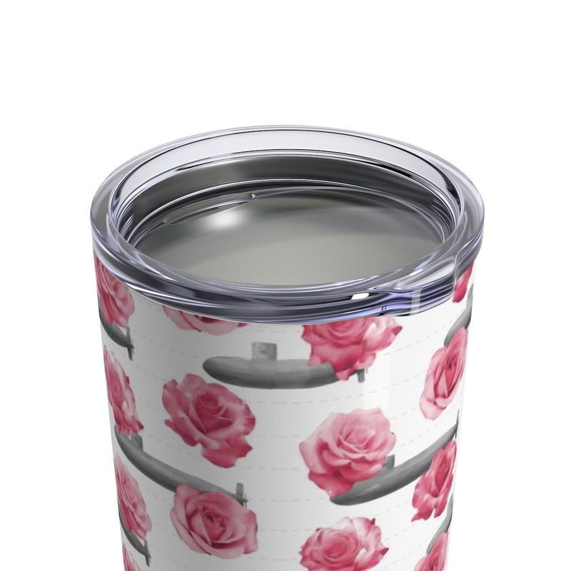 Roses and Submarines - Wine Tumbler