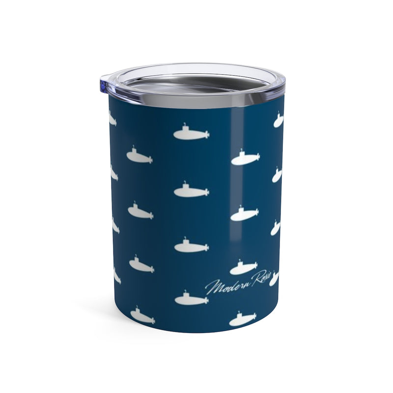 Tiny Subs (Navy) Wine Tumbler