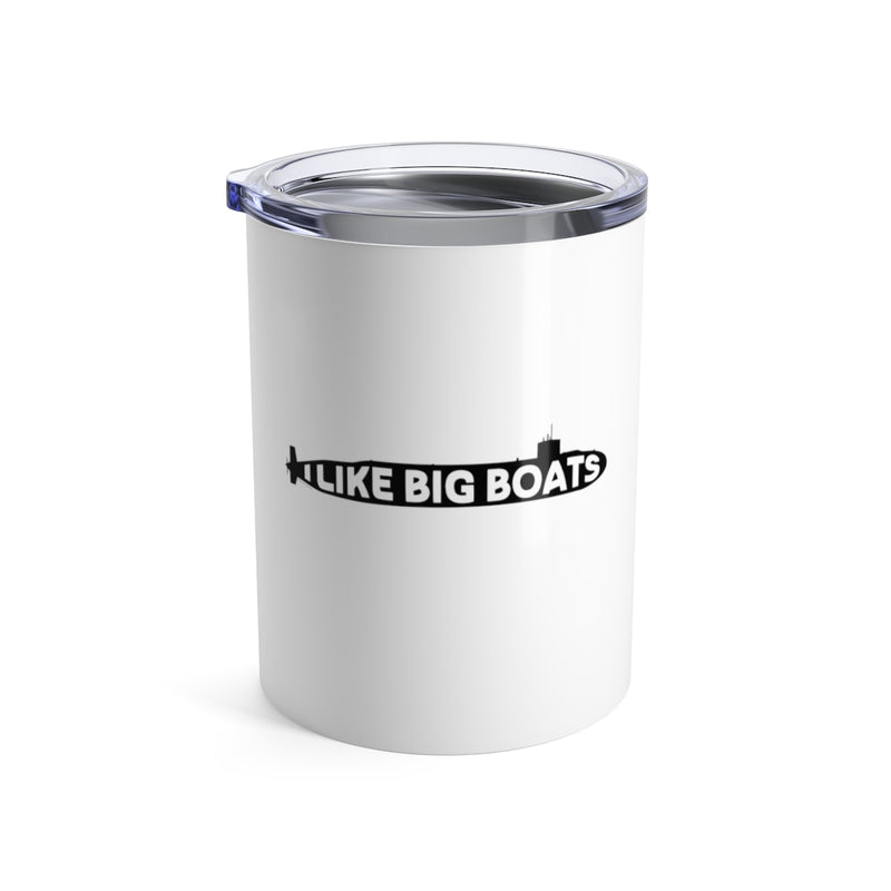 I Like Big Boats - Wine Tumbler