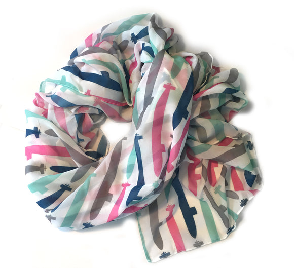 Colorful Subs Scarf from Modern Rosie
