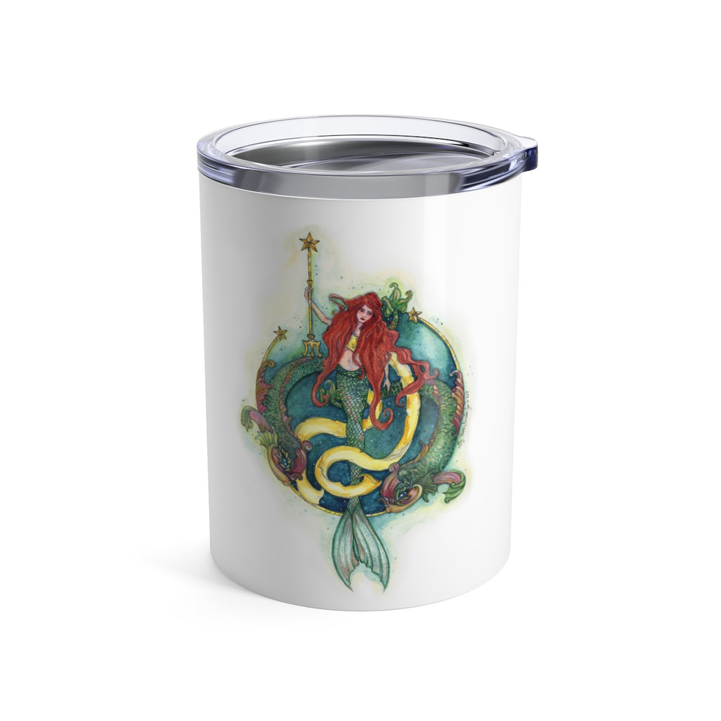 Mermaid and Dolphins - Wine Tumbler