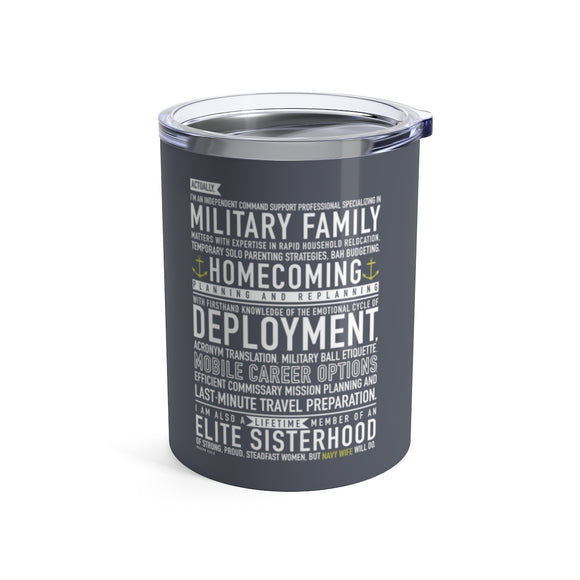 Navy Wife Will Do - Wine Tumbler