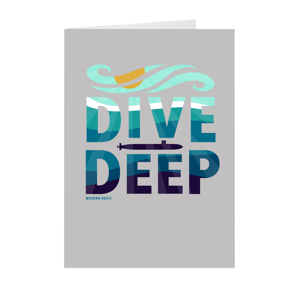 Dive Deep Folded Card