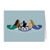 Submarine Mermaid Sisterhood Insignia - Folded Cards