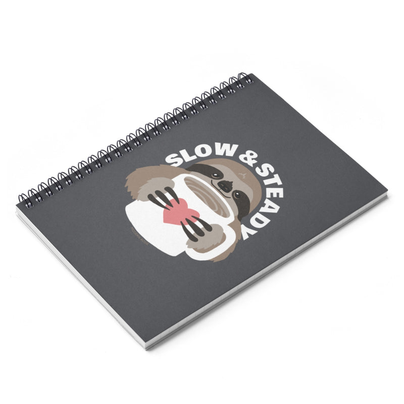 Slow and Steady Sloth Spiral Notebook