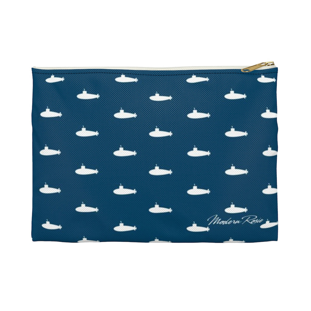 Tiny Subs (Navy)  Pencil Pouch