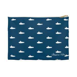 Tiny Subs (Navy) Pencil Pouch from Modern Rosie