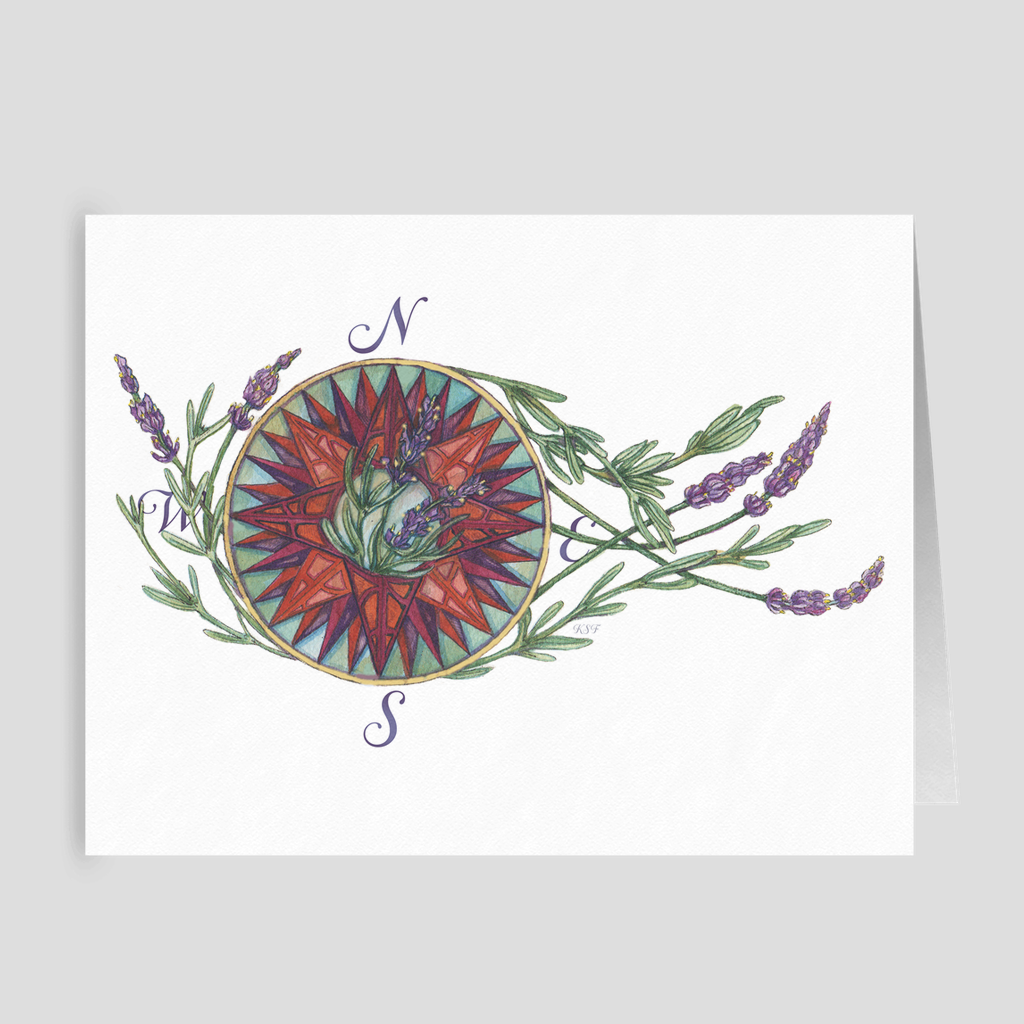 Blooming Compass: West Coast Lavender - Folded Cards