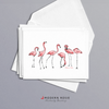 Flamingos - 4x5 Folded Card Pack