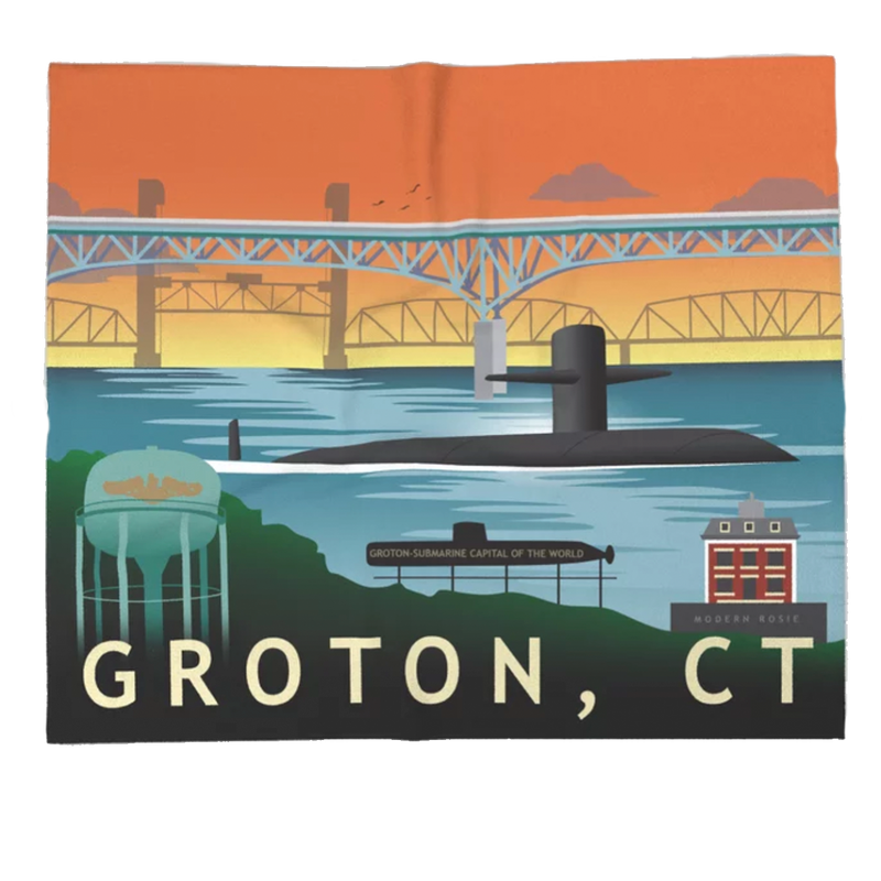 Groton Submarine Base Super Soft Fleece Blanket